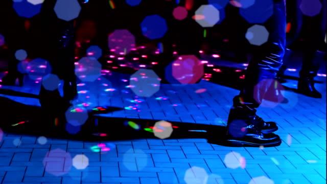 defocused dance floor video