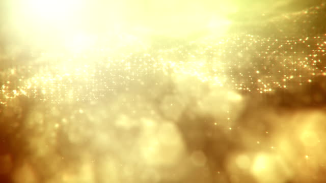 Defocused Gold Particles 2 - loopable video