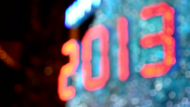 Defocused New Year 2013 Celebration video
