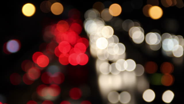 Defocused of Car's light. video