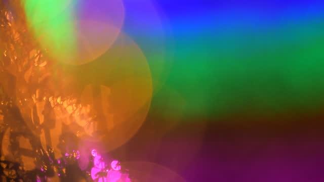 Defocused of light bulb. video