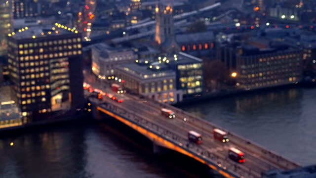 Defocused of Night in London Bridge, England, UK