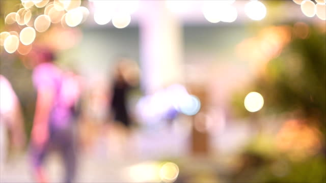 Defocused of people in departmentstore video