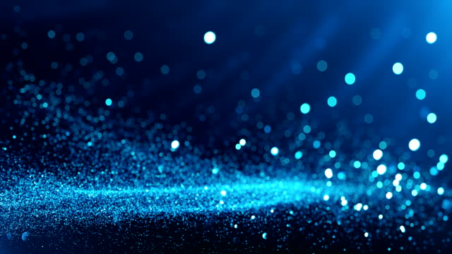 defocused particles background (cyan / blue) - loop - abstract art stock videos & royalty-free footage