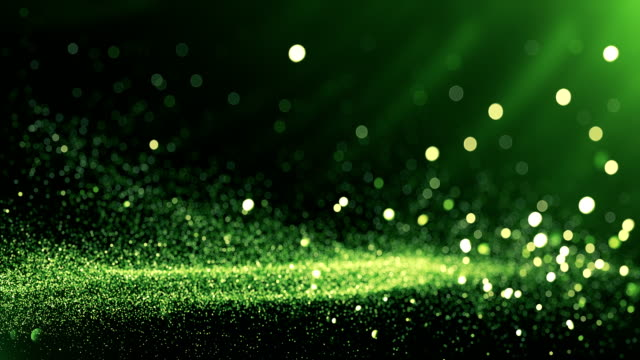 defocused particles background (green) - loop - sustainable living stock videos & royalty-free footage