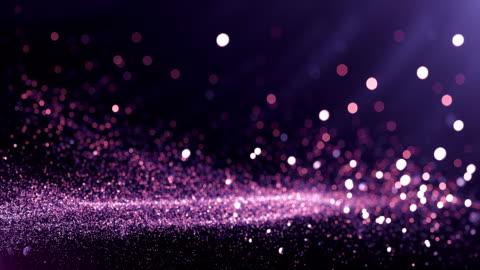 vídeos y material grabado en eventos de stock de partículas defocused fondo (violeta) - lazo - imagen en bucle