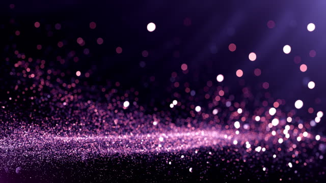vídeos de stock e filmes b-roll de defocused particles background (purple) - loop - glamour