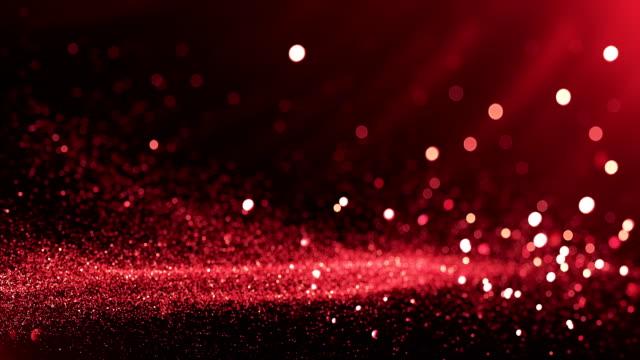 oskärpa partiklar bakgrund (röd) - loop - röd bildbanksvideor och videomaterial från bakom kulisserna