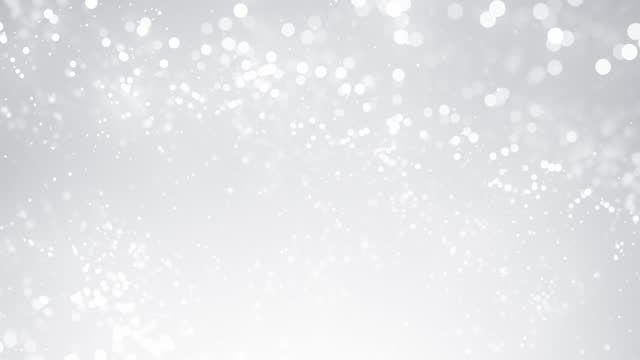 Defocused Particles in Slow Motion - White, Gray, Silver Colored, Bright - Abstract Background Animation - Loopable