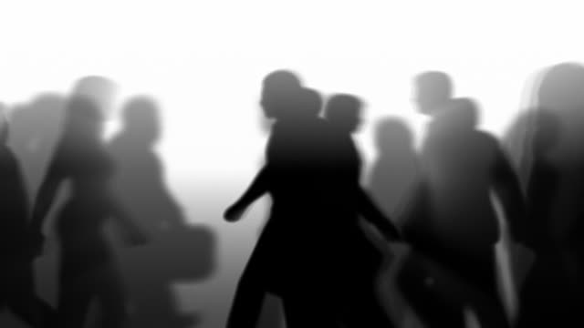 Defocused People Walking By (Silhouette) video