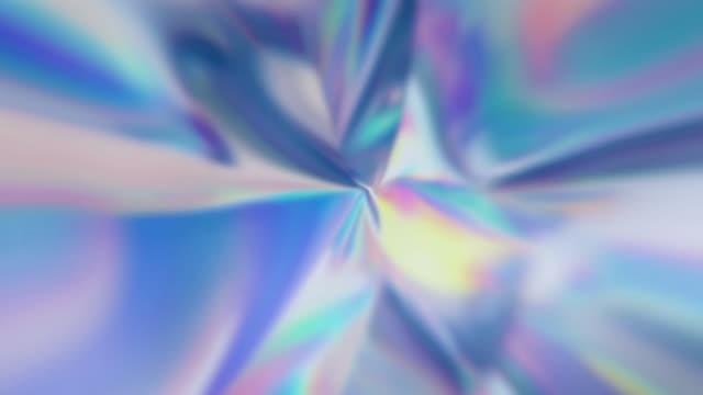defokussierten psychedelischen holographische abstrakten hintergrund loop - holografisch stock-videos und b-roll-filmmaterial