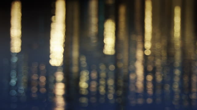 Defocused Shot of Lights Reflecting in Water video