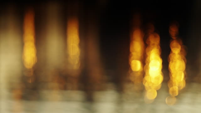Defocused Shot of Port Lights video