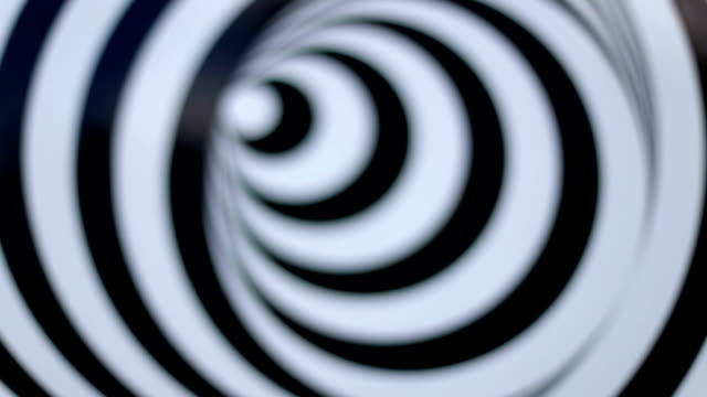 Defocused spinning spiral, Abstraction, Black and White