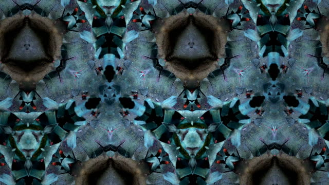 デフォーカス、シュールな抽象的なモーション グラフィックス - 万華鏡模様点の映像素材/bロール