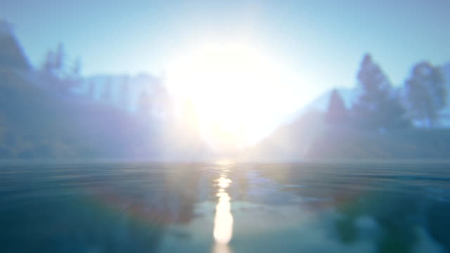 Defocused water video