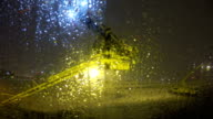 istock Defrosting at Montreal Airport under snowing with spraying chemical to plane 936101992