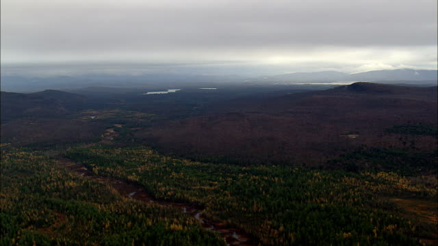 degrasse state forest - Aerial View - New York,  St. Lawrence County,  United States video