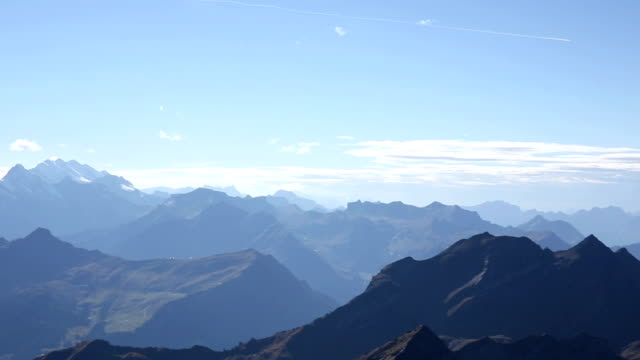 180 degree pan of mountains, including Eiger North Face video
