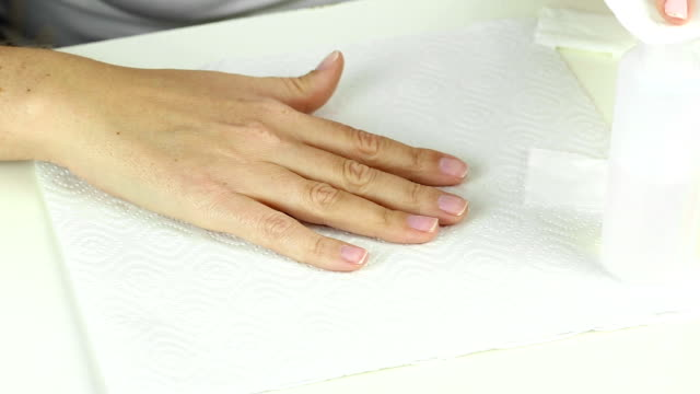 Dehydration of female nail after gel polish application procedure video
