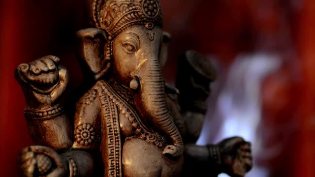vídeos y material grabado en eventos de stock de deity of ganesha de la india - hinduismo