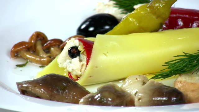 prelibatezze - formaggio spalmabile video stock e b–roll