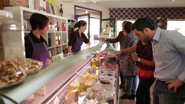 Delicatessen shopping video