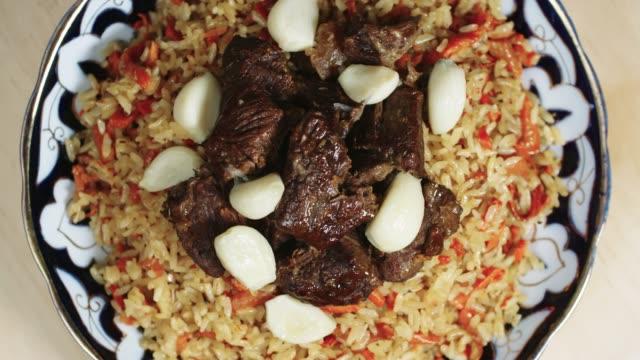 Delicious Beef Pilaf with Garlic video
