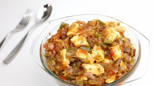 Delicious home made semi dry Indian Shimla Mirchi Paneer video