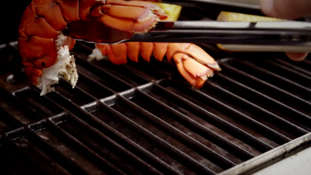 Delicious Lobster Tails and Sweetcorn on BBQ Grill video