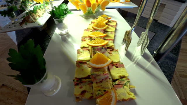 Delicious many different kinds of appetizer video