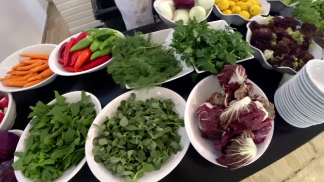 Delicious many different kinds of vegetables video