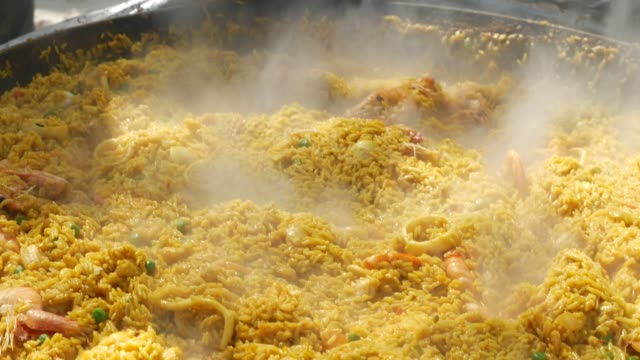 Delicious Paella typical spanish food
