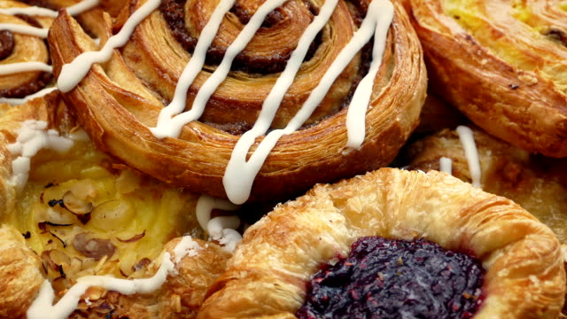 Delicious Pastry Pile Rotating video