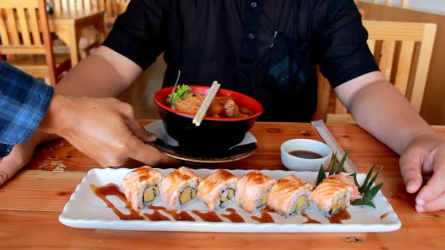 Delicious sushi & Sashimi video