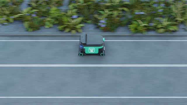 Delivery Robot Food delivery robots may serve homes in near future Delivery Robot Food delivery robots may serve homes in near future. AGV intelligent robot. independence stock videos & royalty-free footage