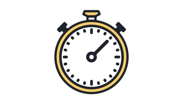 Delivery Time Flat Line Icon Animation with Alpha Package delivery time motion graphic flat line icon animation. Alpha channel will be included when downloading the 4K Apple ProRes 4444 file only. wall clock stock videos & royalty-free footage