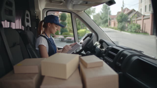 Delivery Worker Using Gadget video