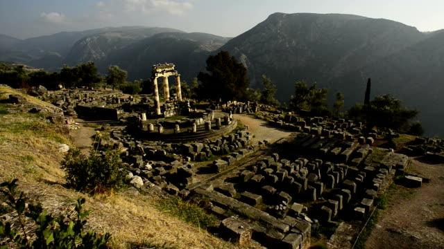 delphi ruinerna i grekland - grekland bildbanksvideor och videomaterial från bakom kulisserna
