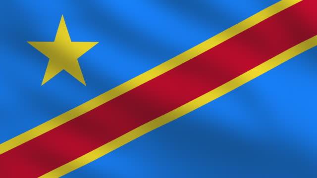 Democratic Republic of the Congo flag video