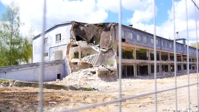 Demolished building. video