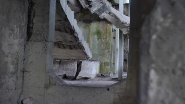 Demolished Reinforced Concrete Military Bunker Ruins