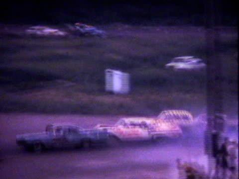 Demolition derby cars--1960's film video
