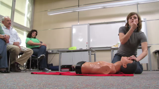 HD: Demonstrating Artificial Respiration On A Dummy video