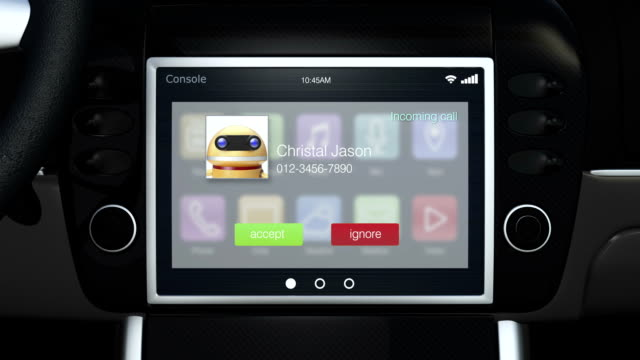 Demonstration of car multimedia interface. video