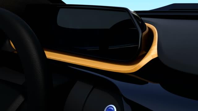 Demonstration of start engine of autonomous car video