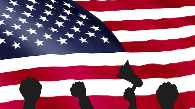vídeos y material grabado en eventos de stock de manifestación, desfile, reunión, protesta social de la gente en los estados unidos - inauguration