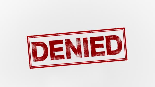denied - proibizione video stock e b–roll