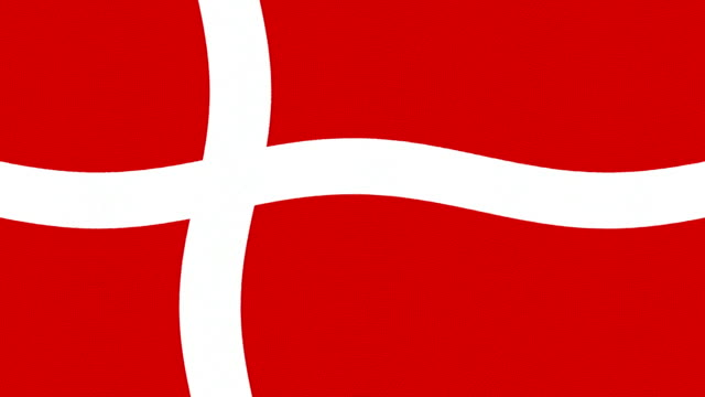 Denmark flag waving seamless loop new quality unique animated dynamic motion joyful colorful cool background video footage video