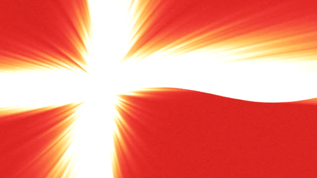 Denmark flag waving seamless loop with sun light rays new quality unique animated dynamic motion joyful colorful cool background video footage video